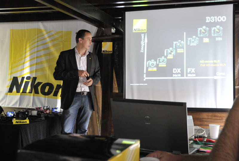 Mag. Tomaž Puh, koordinator poslovanja za Slovenijo pri Nikon Slovenija je bil nad odzivom akcije »JAZ SEM...« prijetno presenečen.